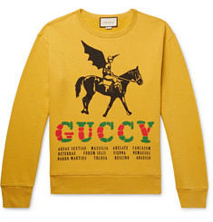 Gucci - Printed Loopback Cotton-Jersey Sweatshirt