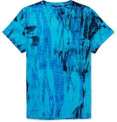 Balmain Slim-Fit Distressed Tie-Dyed Cotton-Jersey T-Shirt