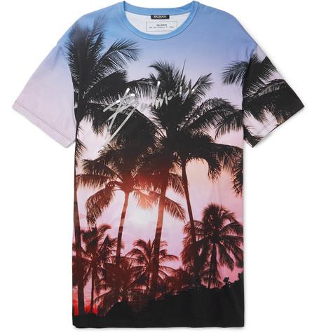 259f5bc0 Balmain - Oversized Printed Cotton-Jersey T-Shirt