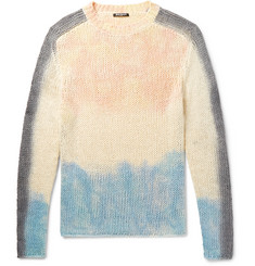 Balmain - Slim-Fit Tie-Dyed Silk and Linen-Blend Sweater