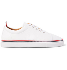 Thom Browne Pebble-Grain Leather Sneakers