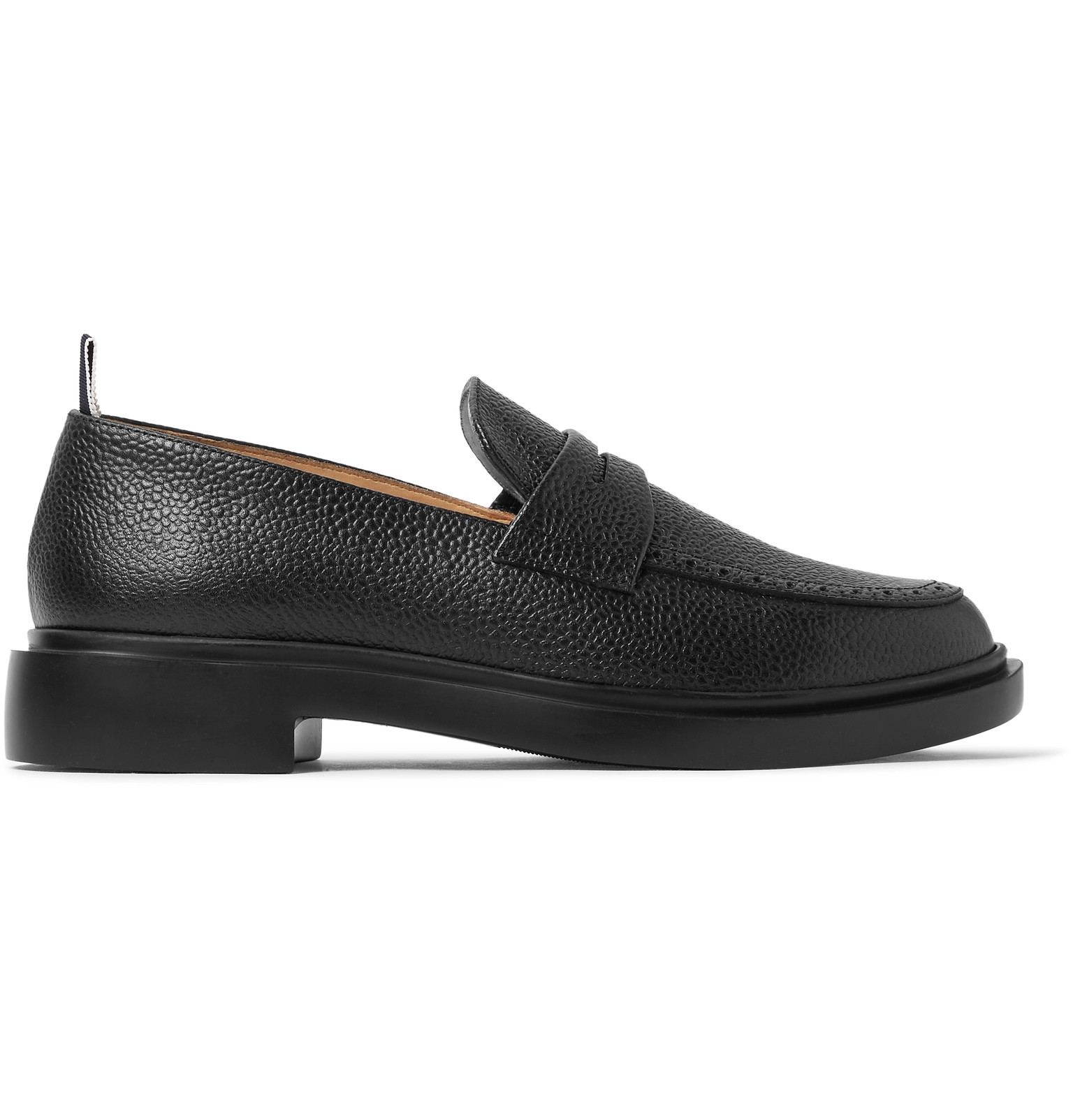 19cd3606b5f Thom Browne - Pebble-Grain Leather Penny Loafers