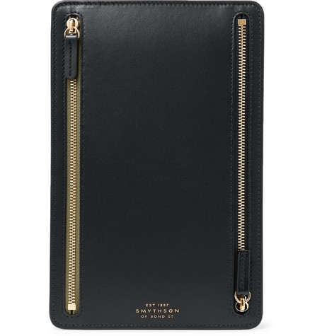 Smythson Bond Leather Currency Case