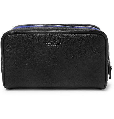 Smythson Burlington Two-Tone Full-Grain Leather Wash Bag