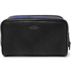 Smythson - Burlington Two-Tone Full-Grain Leather Wash Bag