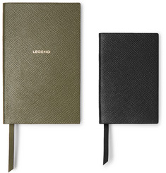 Smythson - Panama Cross-Grain Leather Notebook Set