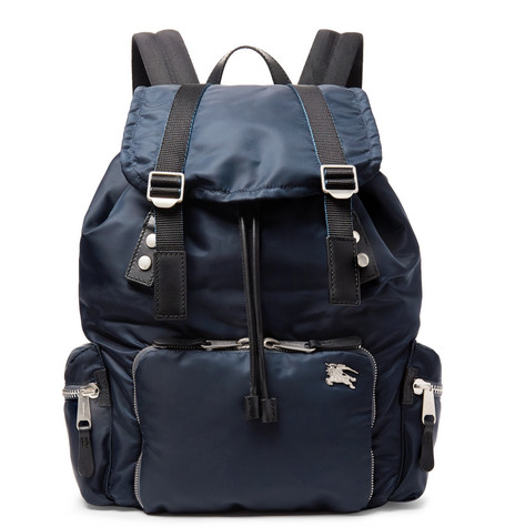 Burberry - Leather-Trimmed Nylon Backpack 416a564a687a3