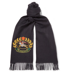 Burberry - Fringed Embroidered Cashmere Scarf