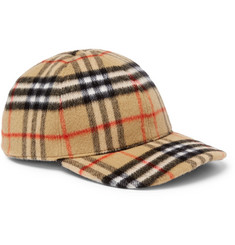2da6d67527d820 Burberry - Checked Brushed-Wool Baseball Cap