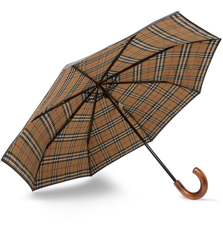 ef7e9d2463ad Burberry - Maple Wood-Handle Telescopic Umbrella