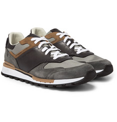 Berluti - Run Track Leather, Suede and Mesh Sneakers