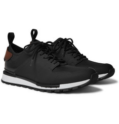 Berluti - Run Track Leather and Neoprene Sneakers
