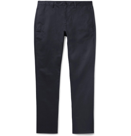 Navy Classic Cotton Gabardine Chinos by A.P.C.