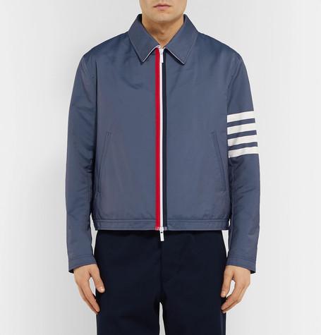Slim Fit Striped Shell Blouson Jacket by Thom Browne