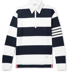 Thom Browne Striped Cotton Rugby Shirt