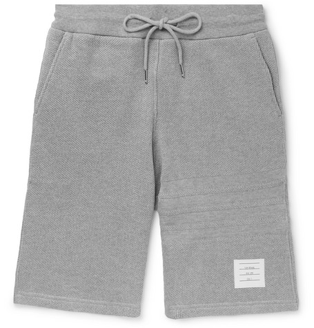 Thom Browne Honeycomb Cotton Shorts