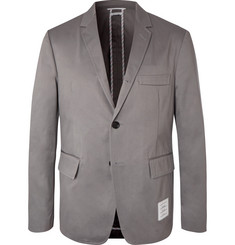 Thom Browne Grey Cotton-Twill Suit Jacket