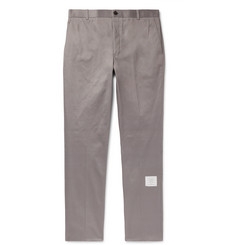 Thom Browne - Grey Cotton-Twill Trousers