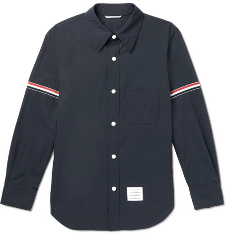 Thom Browne Grosgrain-Trimmed Shell Overshirt