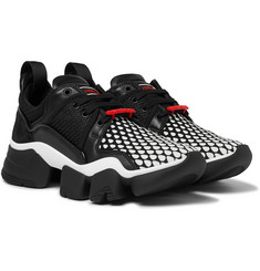 Givenchy Jaw Printed Neoprene, Suede, Leather and Mesh Sneakers