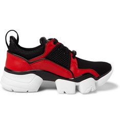 Givenchy Jaw Neoprene, Leather and Mesh Sneakers