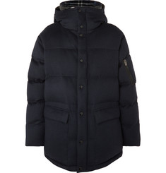 Burberry Quilted Cashmere Hooded Down Jacket