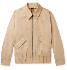 Burberry Reversible Checked Cotton-Gabardine Blouson Jacket