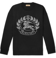 Burberry Merino Wool-Blend Jacquard Sweater