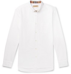 Burberry Button-Down Collar Cotton Oxford Shirt