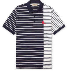 Burberry Slim-Fit Striped Cotton-Jersey Polo Shirt