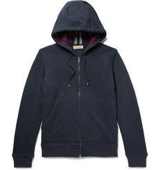Burberry Cotton-Blend Jersey Zip-Up Hoodie