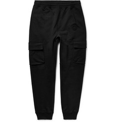 Burberry Tapered Loopback Cotton-Jersey Cargo Sweatpants