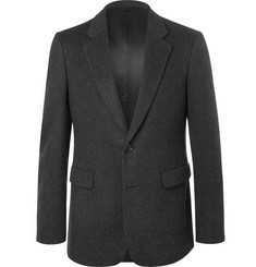 Burberry Dark-Grey Slim-Fit Mélange Felted Cashmere Blazer