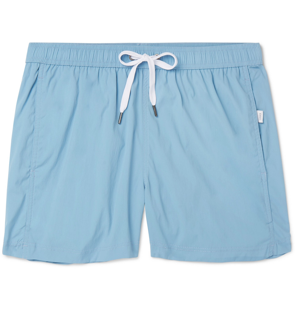 Mid-length Swim Shorts - Light blue