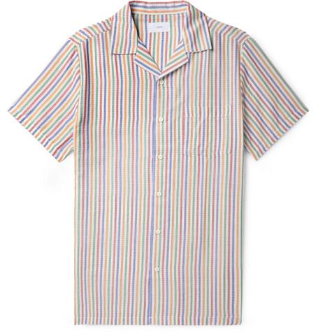 rayas de Oniacamp de con abotonado Camisa cuello q7xw5Od11
