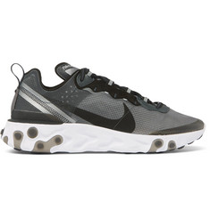 Nike React Element 87 Suede-Trimmed Ripstop Sneakers