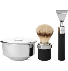 Marram Co Chrome-Plated Modern Razor Shaving Set