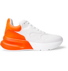 Alexander McQueen Exaggerated-Sole Fluorescent Leather Sneakers