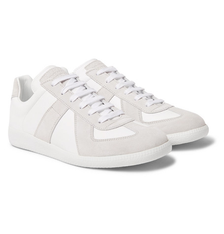 Replica Suede And Leather Sneakers - Off-white