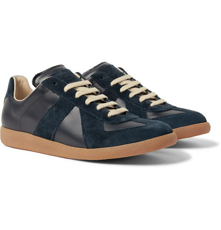 Replica Suede And Leather Sneakers - Navy