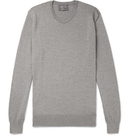 Private White V.C. – Mélange Merino Wool Sweater – Gray