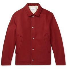 Albam - Fleece-Lined Wool, Nylon and Cashmere-Blend Jacket