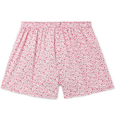 Sunspel - + Liberty London Printed Cotton Boxer Shorts