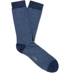 Sunspel Mélange Organic Cotton-Blend Socks