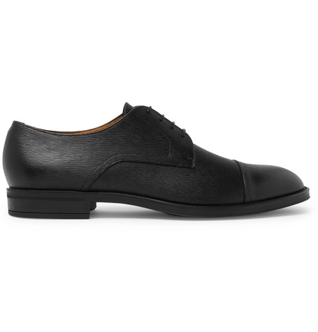 6311aba295e Hugo Boss Coventry Textured-Leather Derby Shoes - Black