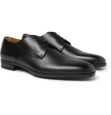 Kensington Leather Derby Shoes - Black