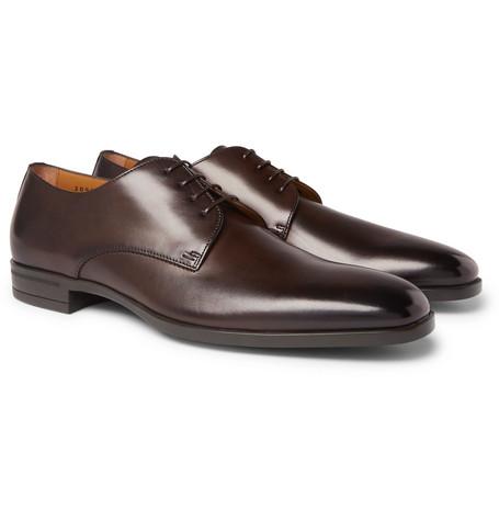 Kensington Leather Derby Shoes - Dark brown