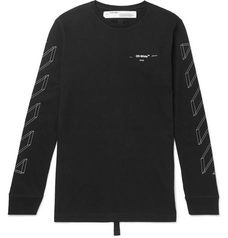 e4896d8ebfc0 Off-White - Logo-Print Cotton-Jersey T-Shirt