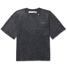 Off-White Acid-Washed Cotton-Jersey T-Shirt