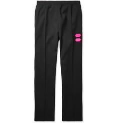 오프화이트 Off-White Logo-Trimmed Stretch-Jersey Sweatpants,Black